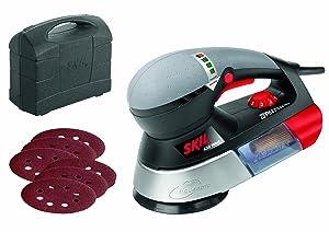 Skil Exzenterschleifer 7460 AA (430W, Ø125 mm, variable Drehzahl, 6 tlg. Schleifpapierset, +Koffer)  BaumarktKundenbewertung und Beschreibung