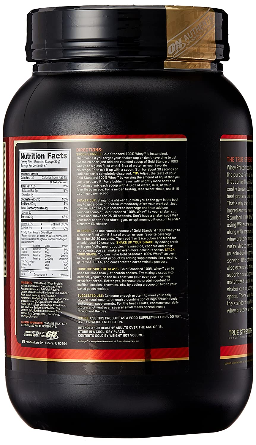 ON Whey Gold Standard - 2 lb Cookies & Cream
