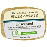 Clearly Natural, Glycerine Soap, Unscented, 4 oz (Tamaño: 4 oz)