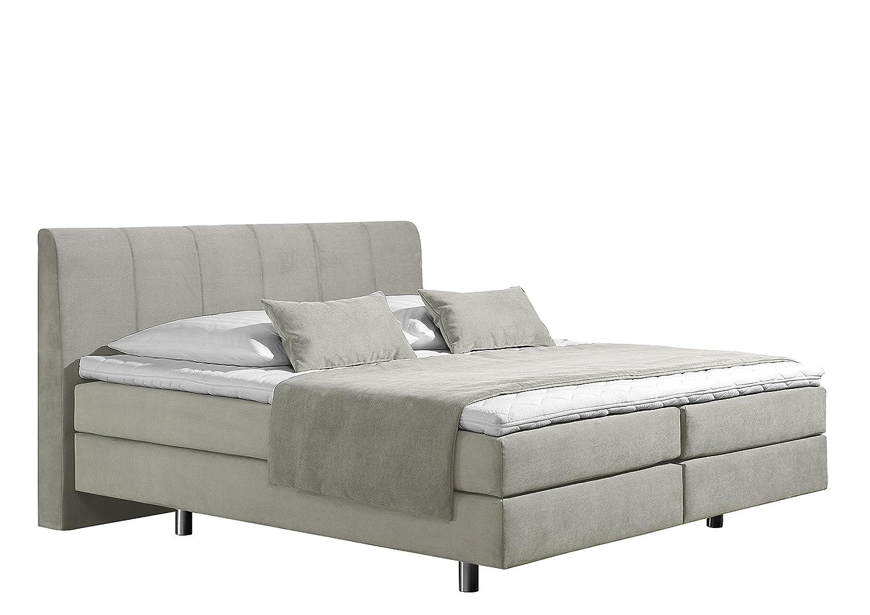 Maintal Betten 237440-4169 Boxspringbett Montepellier 160 x 200 cm, Strukturstoff ecru
