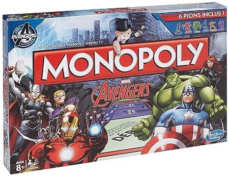 Hasbro - B03231010 - Jeu De Société - Monopoly - Avengers