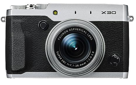 """Fujifilm X30 Appareil Ultracompact Numérique Wifi Expert, 12,3 Mpix X-Trans II (2/3""""), Zoom 4x (25-100mm) F1.8-4.9, AF à Détection de Phase, Argent"""