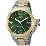 TW Steel Men's Quartz Gold and Stainless Steel Casual Watch, Color:Two Tone (Model: CB61)