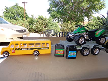 School Bus Monster Truck Toy School Bus Towing Truck With