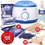 New Waxing Kit - Wax Warmer - Post-Wax Treatment Spray - Depilatory Wax - Hot Hard Scented Wax Warmers Electric Kit for Men - Women - Brazilian Eyebrow Home Body Waxing Kits - Prime (Color: Vertebeauty Waxing kit, Tamaño: Vertebeauty Waxing kit)