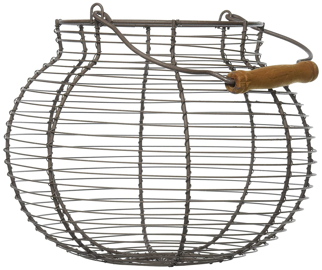 Your Hearts Delight Round Wooden Handle Wire Basket, 10-Inch 0