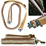 Paracord Gun Sling - Shotgun Accessories, Rifle Accessories, Rifle Sling, Shotgun Sling, Gun Accessories, Riflesling, Gunsling Gun Slings - 4 Colors - Parachord Sling - 2 Point Traditional (Color: Brown & Tan Camo)