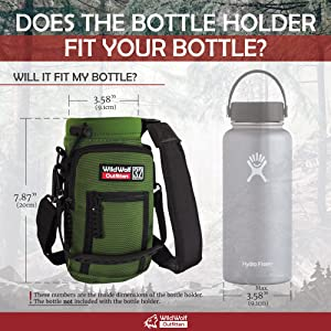 Gym Kayaking and Travel Portable Bottle Carrier Sling Bag Folds into Pouch for Easy Storage Hiking Jogging Yoga OYATON Water Bottle Holder with Adjustable Shoulder Strap Perfect for Walking
