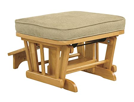 Shermag Honey Nursing Ottoman, Vista Wheat