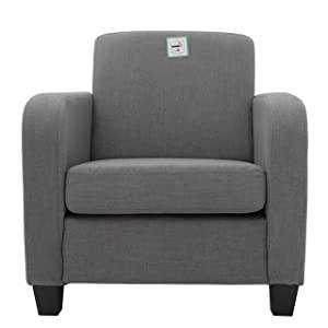 FoxHunter Linen Fabric Tub Chair Armchair Dining Living Room Lounge Office Modern Furniture Grey New       Customer review
