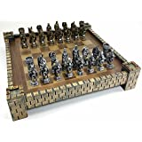 King Arthur Camelot Knights Medieval Times Dragon Fantasy Chess Set W Castle Board 17