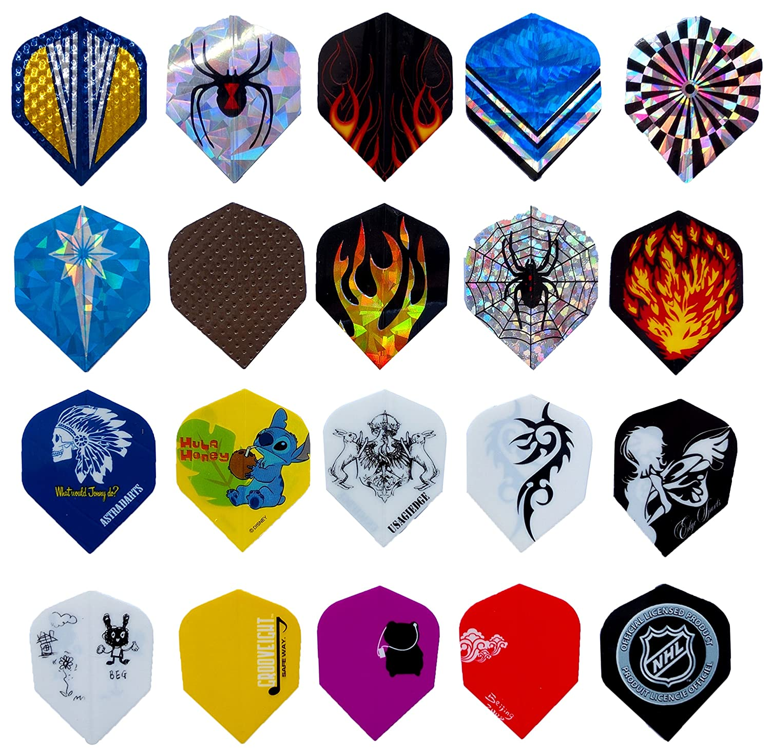 25 Sets/ 75 Pcs Wholesale Dart Flights Sets 2D And 3D Bling Extra Thick Long Life Laser Aluminium Darts Flights