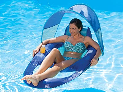 SwimWays Spring Float Recliner Canopy