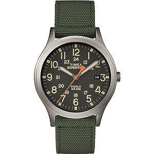 RELOJ TIMEX UNISEX - TW4B13900 Expedition Scout 36 con correa de nylon verde/negro