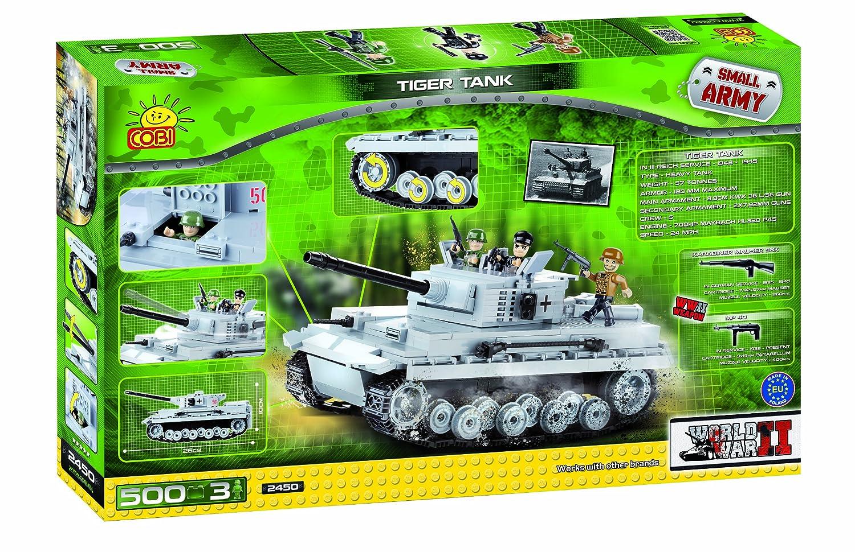 Tanque alemán Tiger construido con ladrillos de plástico