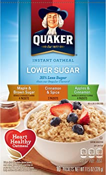 4-Pk. Quaker Instant Oatmeal Lower Sugar Variety Pack