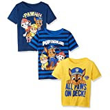 Nickelodeon Little Boys' Paw Patrol 3 Pack Tees, Yellow/Blue, 5 (Color: Yellow/Blue, Tamaño: 5)