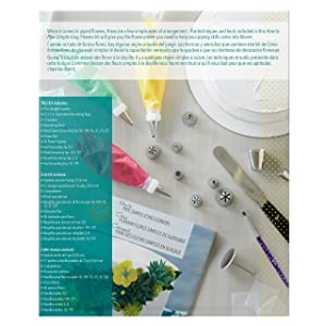 Wilton How to Pipe Simple Icing Flowers Kit -68-Piece Cake Decorating Kit with Spatula, Decorating Bags, Couplers, Decorating Brush, Decorating Tips, Flower Squares, Recipe and Tutorial Video (Color: White)