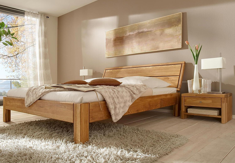 Stilbetten Bett Holzbetten Massivholzbett Flora Eiche (geölt) 180×200 cm günstig