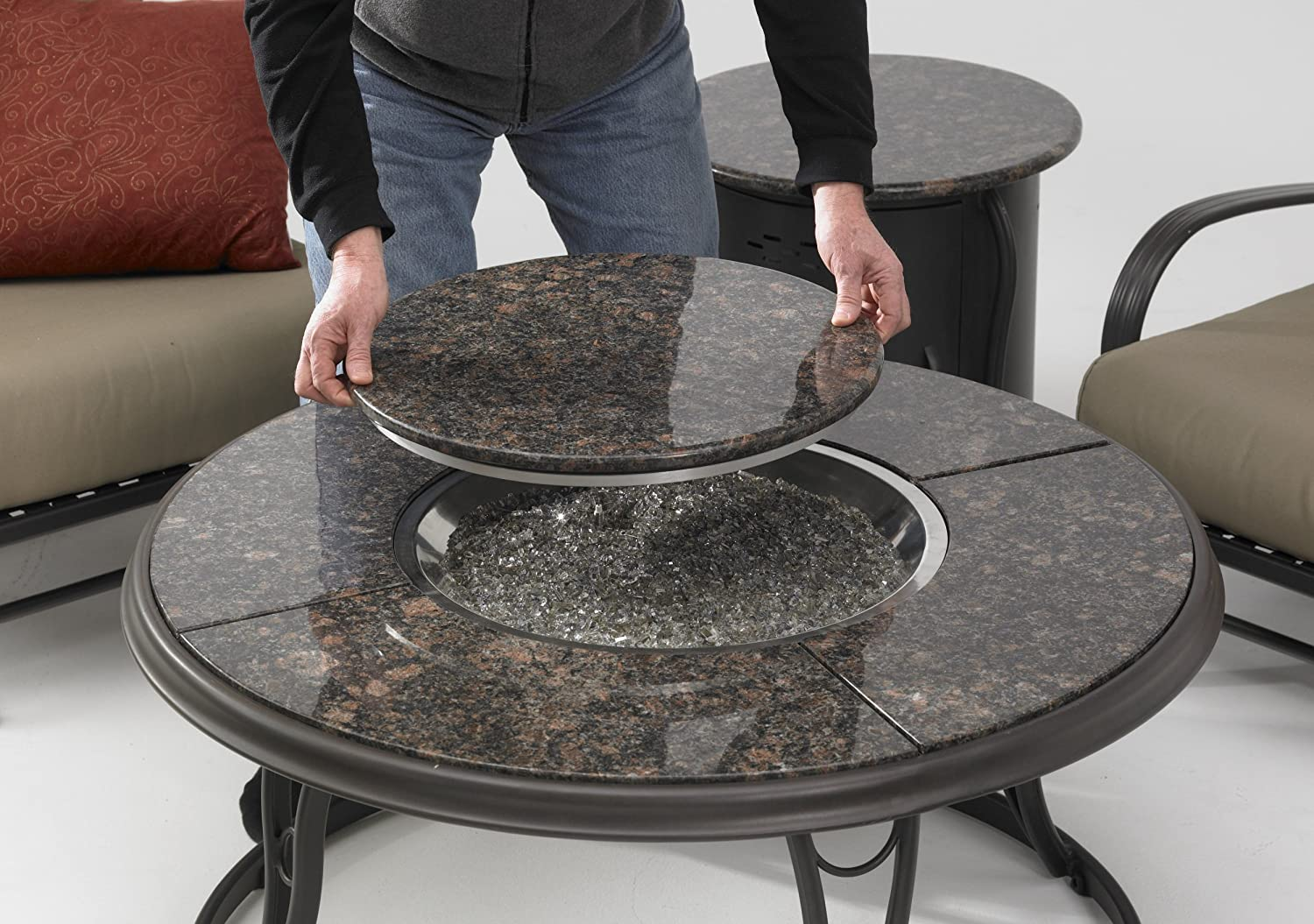 Granite Coffee Table Outdoor Propane Fire Pits