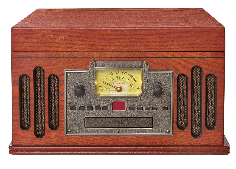 crosley cd cassette am fm radio 3 speed record player turntable speakers system ebay. Black Bedroom Furniture Sets. Home Design Ideas