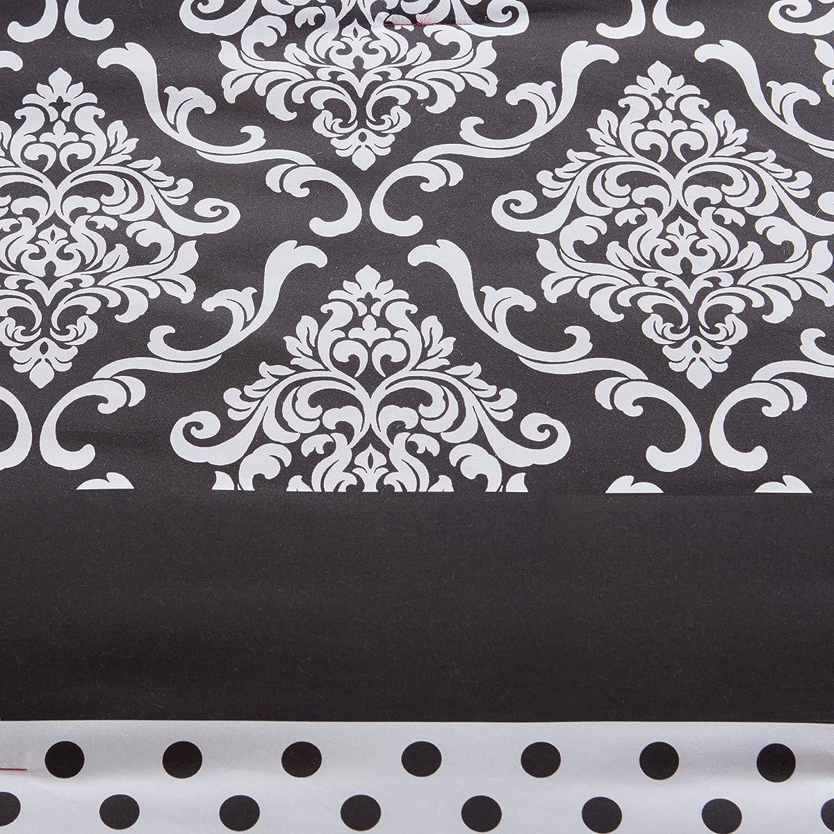 Comfort Spaces - Sally Comforter Set - 4 Piece - Hot Pink & Black - Zebra, Damask, Polka dot print - Queen Size, includes 1 Comforter, 2 Shams, 1 Decorative Pillow