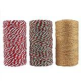 Resinta 3 Rolls Christmas Twine Cotton String Natural Jute Twine for Christmas Gift Wrapping DIY Arts Crafts 984 Feet Totally (Color: Bluetooth Headphones-lk1800, Tamaño: Headphones-modelJI1800)