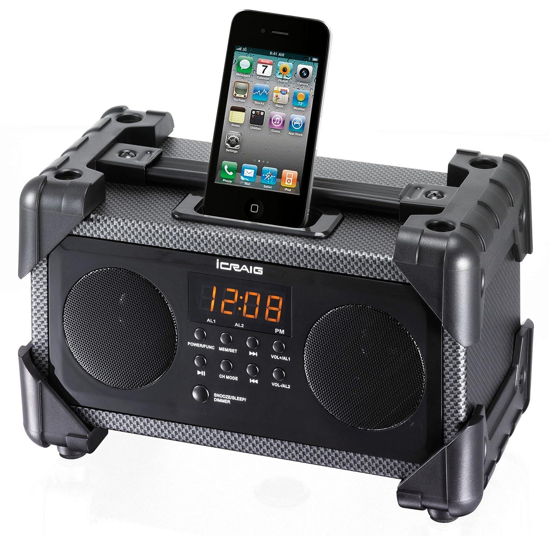 craig dual alarm industrial ipod iphone docking alarm clock cmb3228 new fre ebay. Black Bedroom Furniture Sets. Home Design Ideas