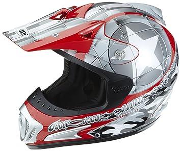 Römer 130141 Casque Moto Cross/MX Starcross, Rouge/Argent, XS