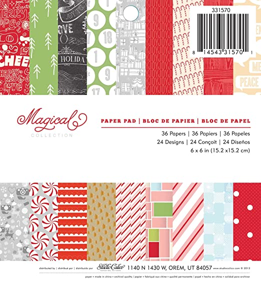 Studio Calico Magical 6x6 Christmas Paper Pad