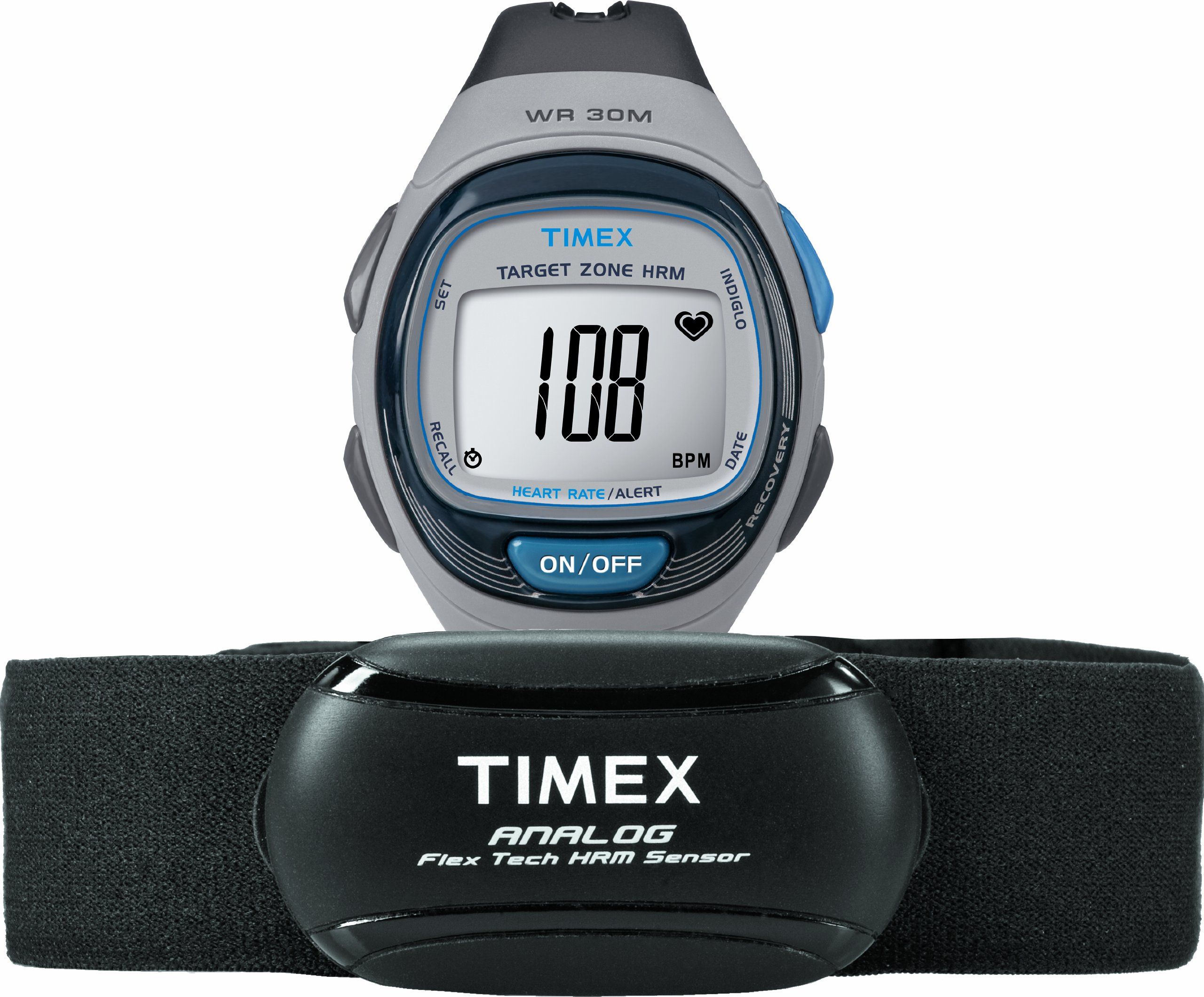 Timex timex personal trainer heart rate monitor watch with heart.