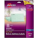 Avery Clear Easy Peel Return Address Labels 1/2