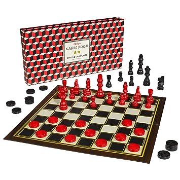 """Salle de jeux """"Jeu d'échecs et dames Set"""""""