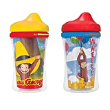 NUK Gerber Graduates Curious George Insulated Hard Spout Sippy Cup, 9-Ounce, 2-Pack (Tamaño: 2 Cups)