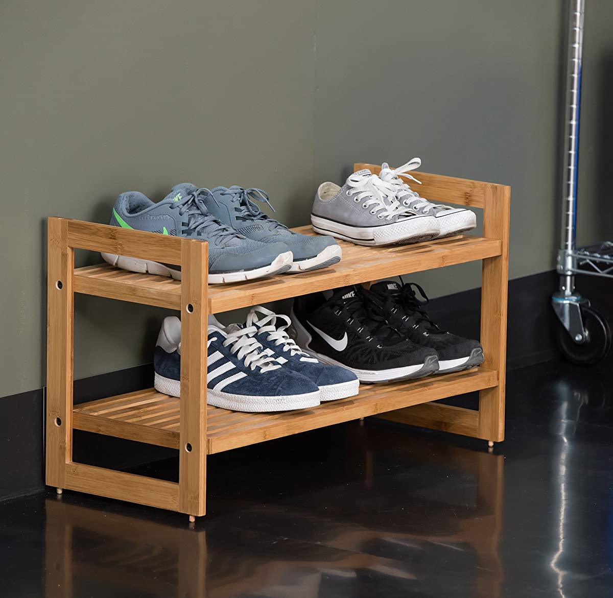 TRINITY Shoe Rack (2 Pack), Bamboo