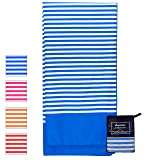 Microfiber Beach Towel for Travel - Oversized XL 70 x 35 Inch - Quick Dry, Sand Free, Extra Large, Lightweight with Zipper Bag - Compact, Perfect for Travel Towel and Beach Blanket (Blue Ocean) (Color: Blue Ocean, Tamaño: X-Large)