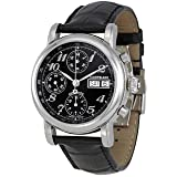 Montblanc Men's 'Star' Automatic Stainless Steel and Leather Dress Watch, Color:Black (Model: 8451)
