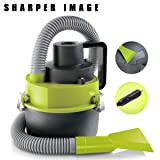 SHARPER Image Multifunction Wet/Dry Auto Vacuum Cleaner, Works for Cars, Trucks, and Van Upholstery, Uses 12Volt DC Motor, Powerful Suction to Pick Up Debris and Liquid Spills, 4 Separate Attachments