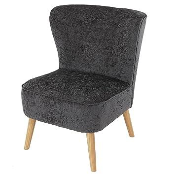 Sessel Malmö T313, Loungesessel Polstersessel, Retro 50er Jahre Design ~ grau, Textil