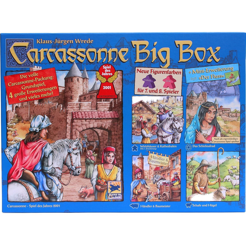 Carcassonne Big Box 2014 – Grundspiel mit Fluss & 4 Erweiterungen günstig online kaufen