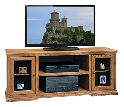 "Legends Furniture CP1228.GDO Colonial Place 62"" TV Console in Golden"