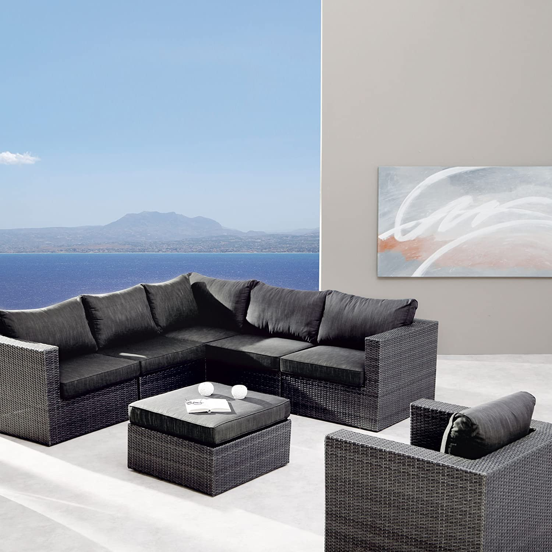 BEST 98897053 7-teilig Loungegruppe Aruba, anthrazit