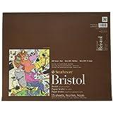 Strathmore STR-475-5 15 Sheet Bristol Pad Vellum Pad, 14 by 17