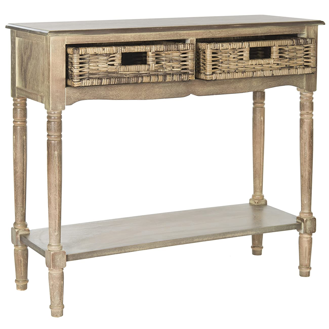 Safavieh American Home Collection Corbin Washed Natural Pine Console Table 1