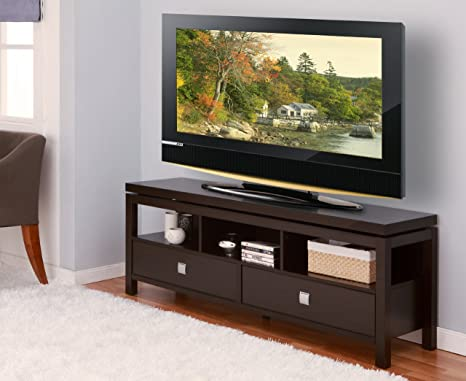 Furniture of America Sonoma Entertainment Center with 2 Drawer, 60-Inch, Cappuccino