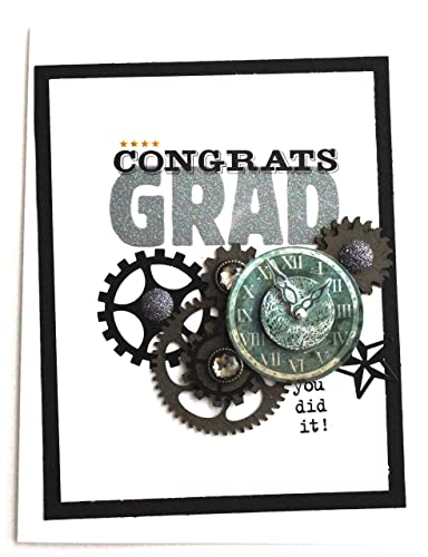 Graduation Greeting Card Steampunk Gears