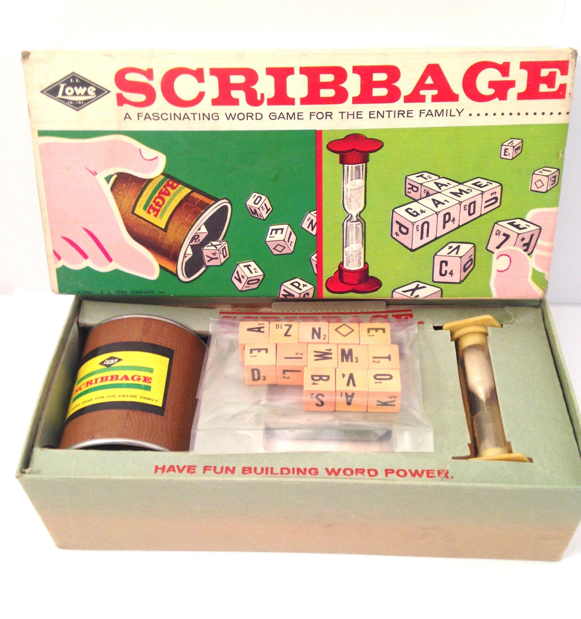 Vintage Scribbage Word Game