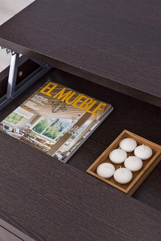 Mesa con encimare elevable color wengue for Mesa elevable amazon