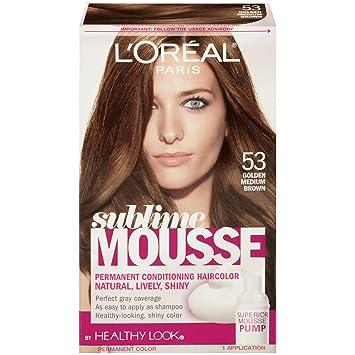 Medium Golden Brown Hair Color Loreal