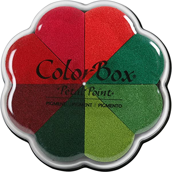 ColorBox Petal Point Inkpad, 4.25 X 4.75, Poinsettia (Color: Poinsettia, Tamaño: 4.25 X 4.75)